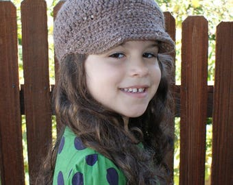 Crochet Pattern-- All Ages Newsboy Cap --Crochet Pattern - Sized from Baby to Adult Male