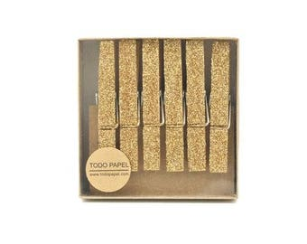 gold glitter clothespins glitter drenched clothespins gift enclosure photo holder party banner