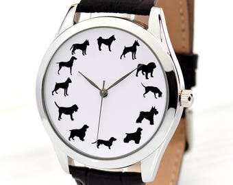 Dog Lover Gift | Dogs Watch | Dog Jewelry | Unique Fun Gift | Teen Boy Gift | Birthday Gift For Mom | Coworker Gift | FREE SHIPPING