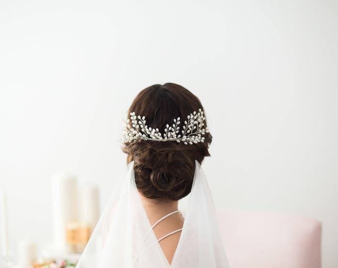 Bridal Pearl Hair Comb, Wedding Hair Accessories, Bridal Headpiece, Pearl Hair vine, Bridal Comb, Wedding Headpiece with Pearls, Pearl comb