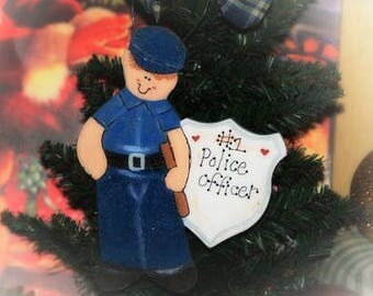 Personalized ornament POLICE officer Christmas COP gift name