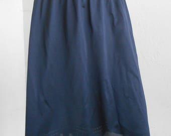 Vintage Olga Half Slip Secret Hug Black Flared Size Medium Style 963F