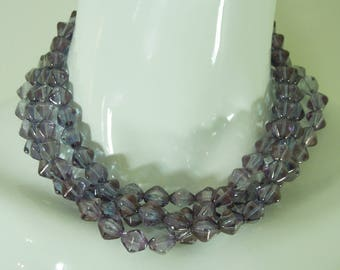 Givenchy 80s Runway Torsade Necklace Purple Blue Glass Color Changing