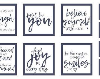 Moda fabric panel THRIVE PILLOW PANEL-dark grey-10900-21-believe in yourself- sayings to inspire