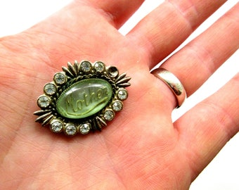 Vintage Rustic Mother Brooch