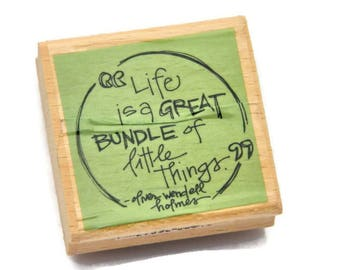 Paper and Ink Stamps - Famous Quotes - Oliver Wendell Holmes - Words of Wisdom - Stamp For Notebook - Journaling Stamps - Papercrafts