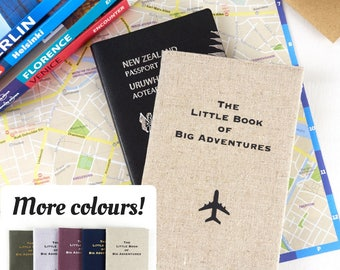 Passport Cover The Little Book of Big Adventures Gift for Traveller Personalised Passport Cover Travel Accessory Personalised Gift Travel