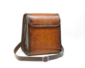 Large Leather Messenger Purse Crossbody
