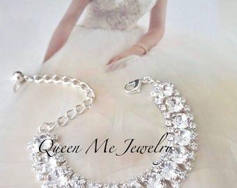 Swarovski crystal bracelet, Crystal wedding bracelet, Crystal statement bracelet, Brides crystal bracelet, Bridal bracelet STUNNING, SOPHIA