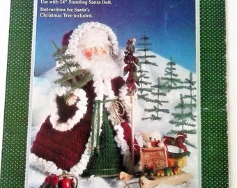 Old St. Nick Crochet Doll Pattern by Fibre Craft - 1991