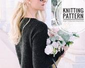 KNITTING PATTERN ⨯ Easy Pullover Sweater Jumper ⨯ Easy Knit Pattern, Sweater Knit Pattern ⨯ Fashion Knitwear Sweater Knitting Pattern PDF