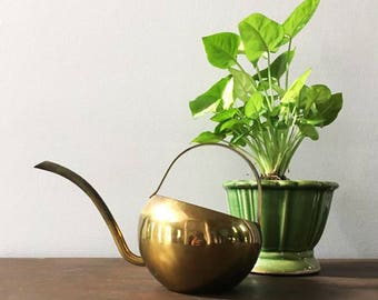 Modern Brass Watering Can / Long Spout Can