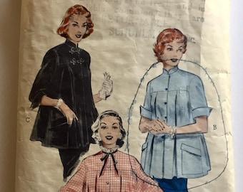 "Vintage 1950s Butterick Misses' Maternity Smock Top Pattern 6533 Size 12 (30"" Bust)"
