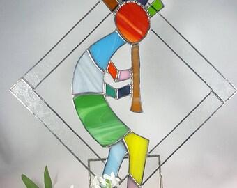 Stained Glass Kokopelli