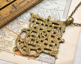 Ethiopian Coptic Cross Necklace Pendant
