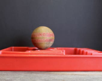 Vintage Red Rubbermaid Silverware Tray // Utensil Organizer // Drawer Organizer