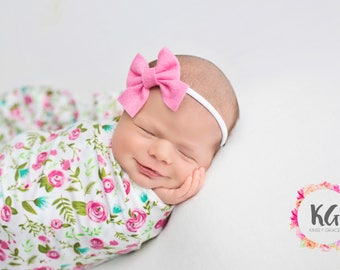 Newborn Bows, Sailor Bow, Baby Headbands, Baby Girl Headband, Newborn Headband, Felt Bows, Hair Bows, Hair Clips, Baby Girl, Girls Bows