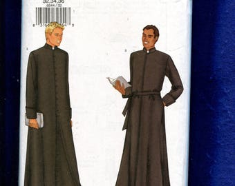 Butterick 6844 Priest Robes Pattern Size 32..34 Chest