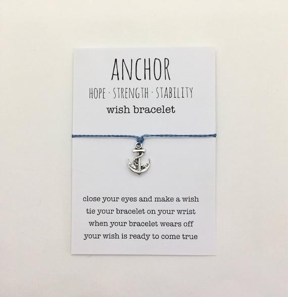 wish bracelet or anklet , anchor bracelet , friendship bracelet , beach bracelet , beachcomber nautical bracelet
