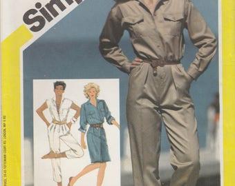 Jumpsuit or Dress Pattern Simplicity 6031 Size 12 Uncut