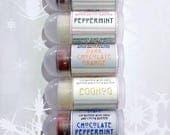 Winter Mini Lip Balm Gift Set - 7 Mini Lip Balms with Shea Butter and Ccoca Butter