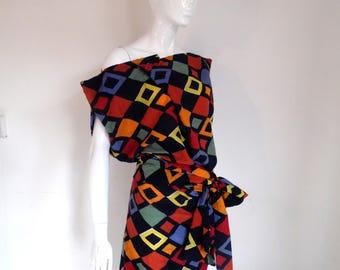BURBO 'Sy-Anne' Harlequin dress