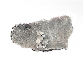 Willemite Rare Natural Gray Crystalline Druzy Mineral Specimen Gemstone Mined in Mexico 1980s