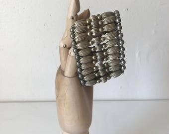 Vintage Metal Beaded Bracelet
