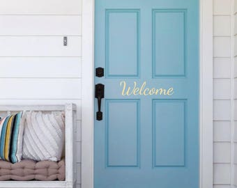 Welcome Door Decal, Door Sticker, Vinyl Door Decal, Home Decal, Entry Way Sticker, Welcome Sign, Welcome Decal, Welcome Sticker