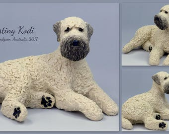 Reserved for Debbie K-S - Final Payment - 4 x Wheaten Sculptures