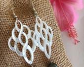 Black Pearl Earrings, Mother of Pearl Earrings, Pearl Drop Earrings, Tahitian Pearl Earrings, Made in Hawaii,  Maui Jewelry, Handmade
