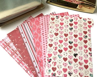 Planner Dividers // A5 or Personal Planner Dividers // Valentine Planner Dividers // A5 Planner Dividers // Personal Planner Dividers