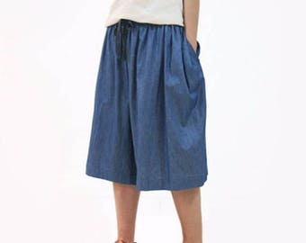 Woman Pants Shorts Trousers Cotton Pants Wide Leg Pants #S01