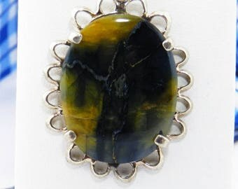 Pietersite Pendant - Pietersite Necklace - Pietersite Jasper - Nambian Pietersite Pendant - Sterling Silver Necklace