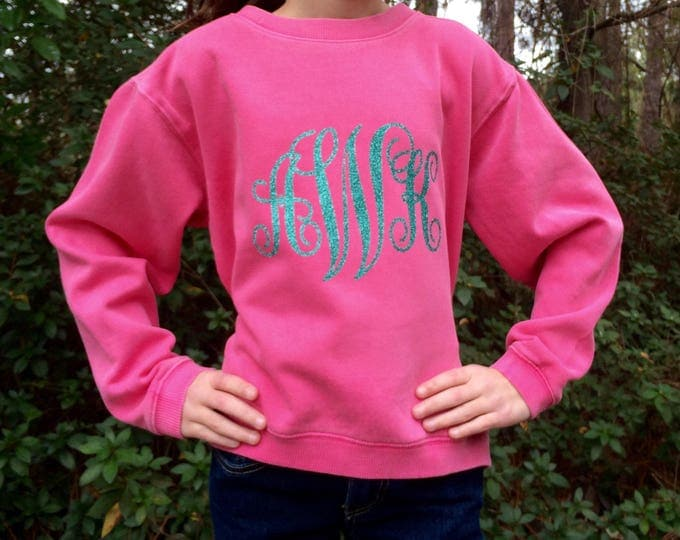 Girls Monogrammed Sweatshirt, Monogrammed Sweatshirt, Monogram Sweatshirt, Christmas gifts, Monogrammed gifts for girls, Gifts for Her