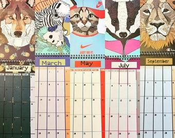 Animals In Clothes 2018 Illustrated Calendar