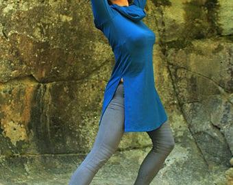 Giraffe Tunic-Tunic top-cowl hoodie-longsleeve women-urban pixie-bohemian fashion-gypsy clothes-fancy clothing-sexy longsleeve-wholesale top