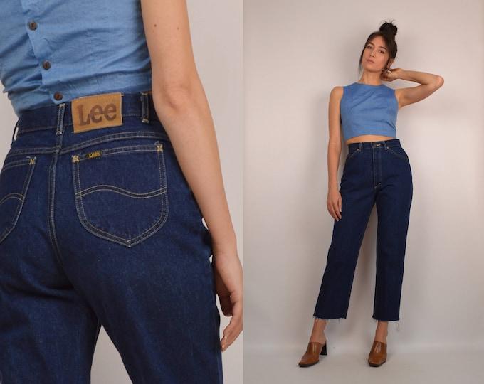 Vintage Lee high waist Frayed hem Jeans