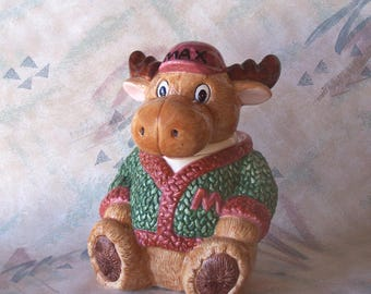 Lovable Max the Moose Cookie with Letterman Sweater
