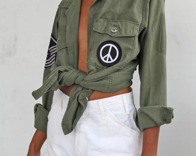 SALE 40% OFF 70s PEACE Fatigue Shirt