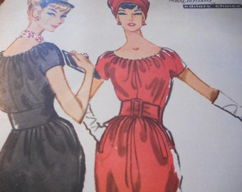 Vintage 1950's McCall's 4663 Givenchy Dress Sewing Pattern Size 10 Bust 31