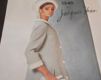 Vintage 1960's Vogue 1540 Dress and Coat Sewing Pattern Size 14 Bust 34