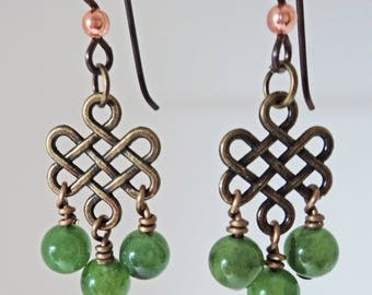 Nephrite Dangle Earrings