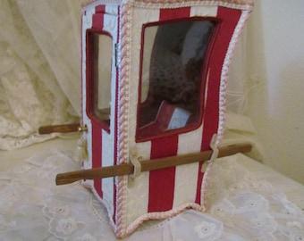 Antique French Sedan Chair, Porters Chair Vitrine, Doll Display