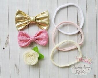 DIY Baby headband Kit, Nylon Headbands Kit, Bow headbands, , baby shower headband kit, headband station, baby headband supplies