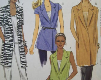 Casual Jacket in Two Lengths Butterick Fast & Easy Pattern B5468 Sizes 14-22  Uncut, Factory Fold Pattern