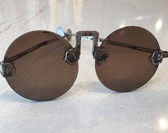 Rimless Hong Kong Monk Folding Sunglasses