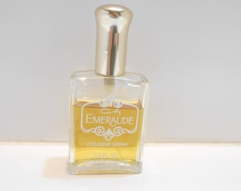 Vintage Emeraude Cologne Spray by Coty (15) 1.0 fl. oz. Bottle is 2/3 Full