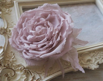 Bridal Flower Hair Clip, Wedding Hairpiece, Rose Hair Accessory, Wedding Fabric Flower, Bride Hair Rose, Fairy Headpiece,Updo Hair Accessory