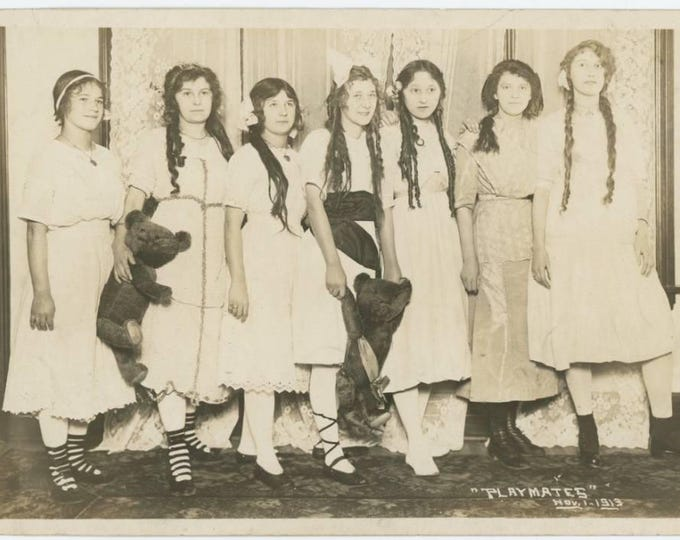 "Vintage Snapshot Photo: ""Playmates, Nov 1, 1913"" 5x7 (78598)"